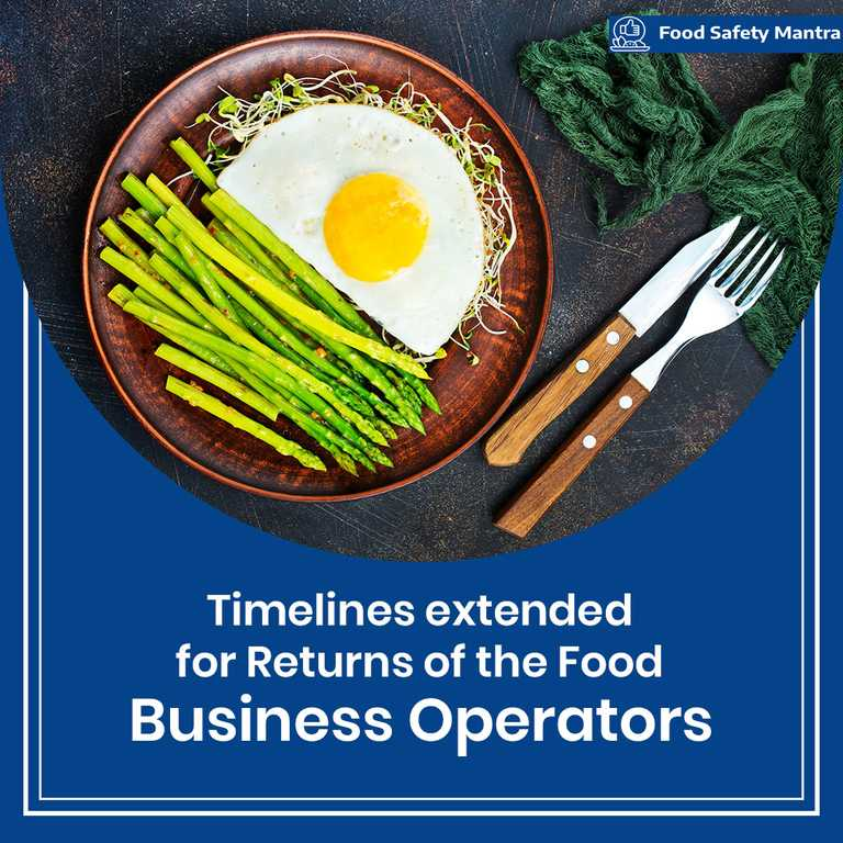 COVID-19-Timeline Extended For Returns Filing By The Food Business Operators